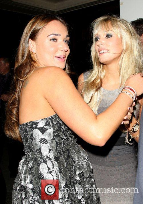 Tamara Ecclestone and Petra Ecclestone  departing the...