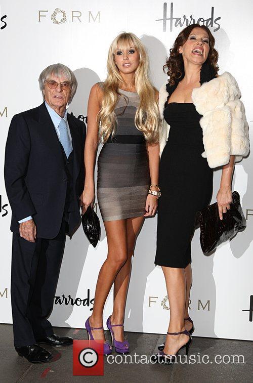Bernie Ecclestone, Petra Ecclestone and Slavica Ecclestone 3