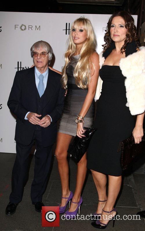 Bernie Ecclestone, Petra Ecclestone and Slavica Ecclestone 1