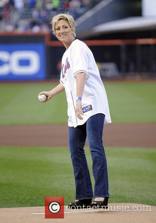Threw out the ceremonial first pitch before the...