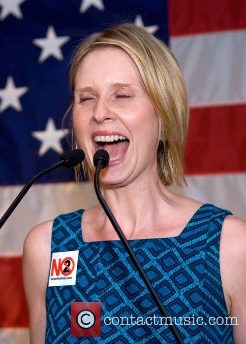 Speaks at a Barack Obama Election 2008 celebration...
