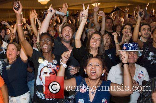 Obama Supporters Barack Obama Election 2008 celebration party...