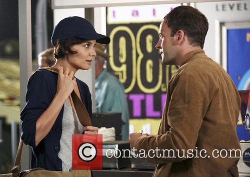 Jonny Lee Miller and Katie Holmes on the...