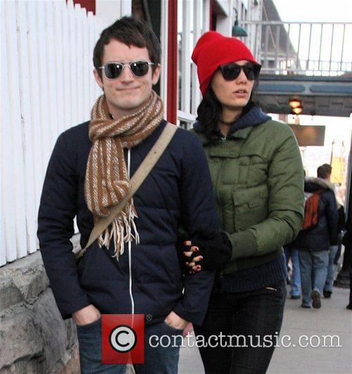 Elijah Wood and Girlfriend Pamela Racine 7