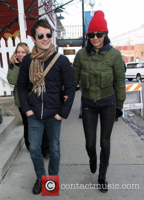 Elijah Wood and Girlfriend Pamela Racine 2