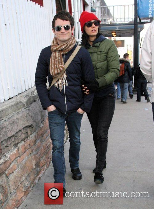 Elijah Wood, girlfriend Pamela Racine, Sundance Film Festival