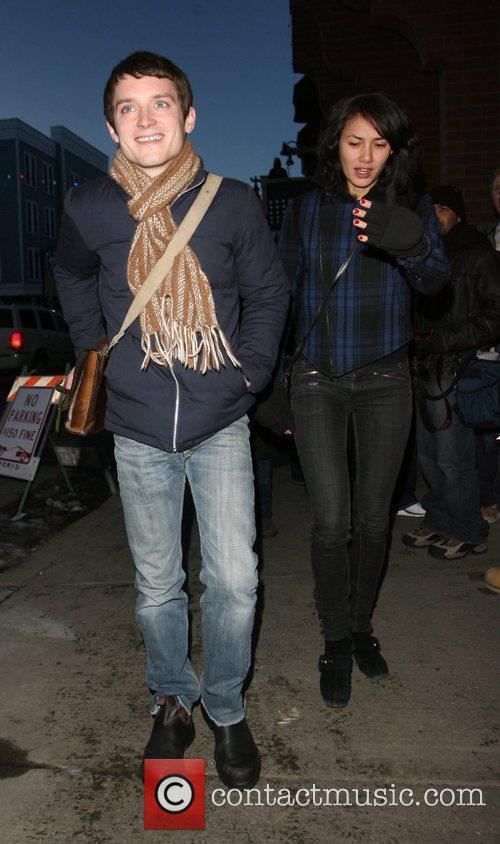 Elijah Wood and Girlfriend Pamela Racine 6