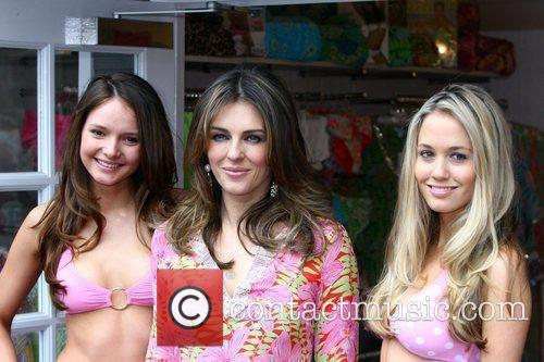 Attends a photocall for Elizabeth Hurley Beach Boutique...