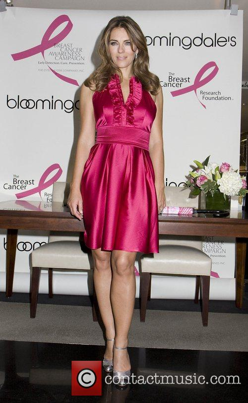 Elizabeth Hurley attends Illumination of Bloomingdale's store for...