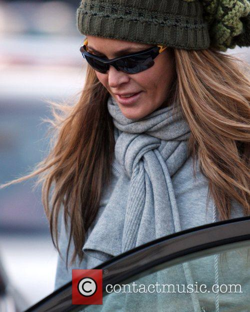 Elle Macpherson dropping off her children at school...