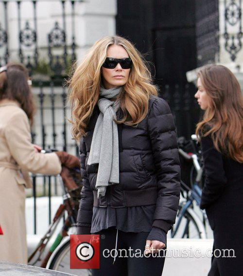 Elle Macpherson  makes her way home after...