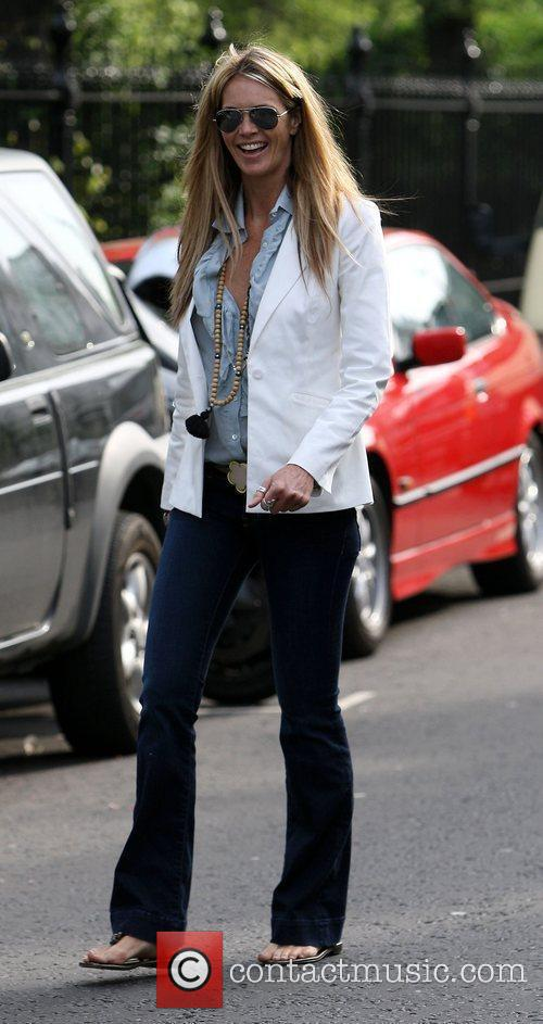 Elle Macpherson who recently returned from a trip...