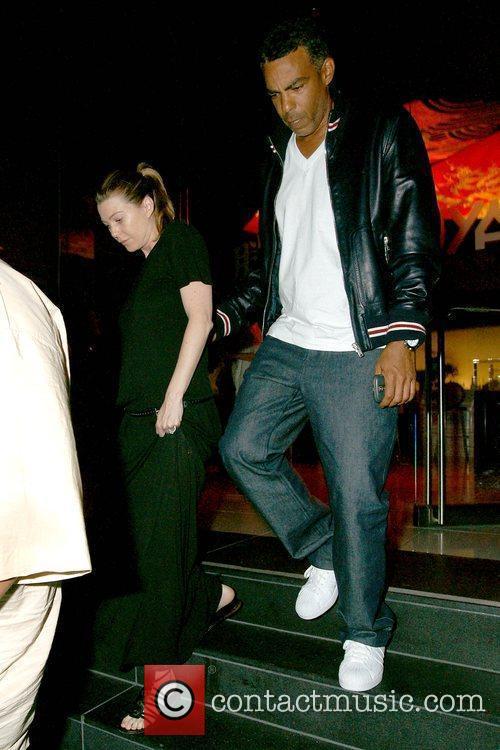 Pregnant 'Grey's Anatomy' star leaving Katsuya restaurant with...