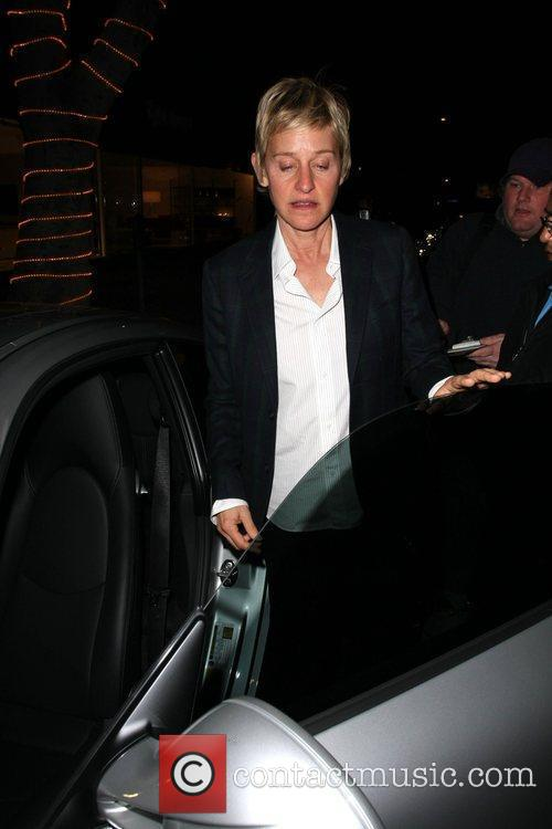 Ellen Degeneres leaving Madeo Los Angeles, California