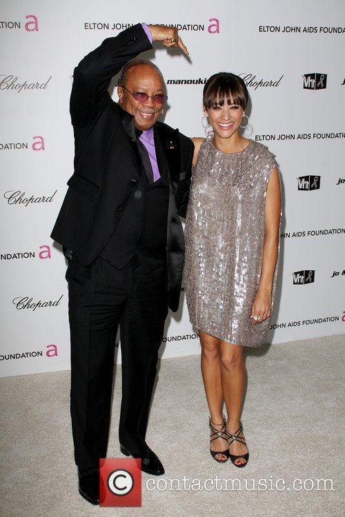 Quincy Jones, Elton John and Rashida Jones 3