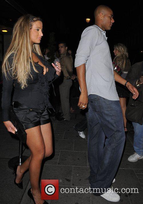 Chantelle Houghton leaving Embassy nightclub with Aston Villa...
