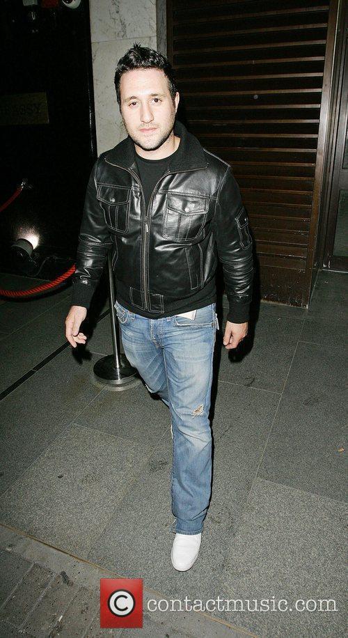 Antony Costa leaving the Embassy Club London, England