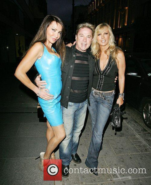 Lizzie Cundy, David Van Day and Guest leaving...