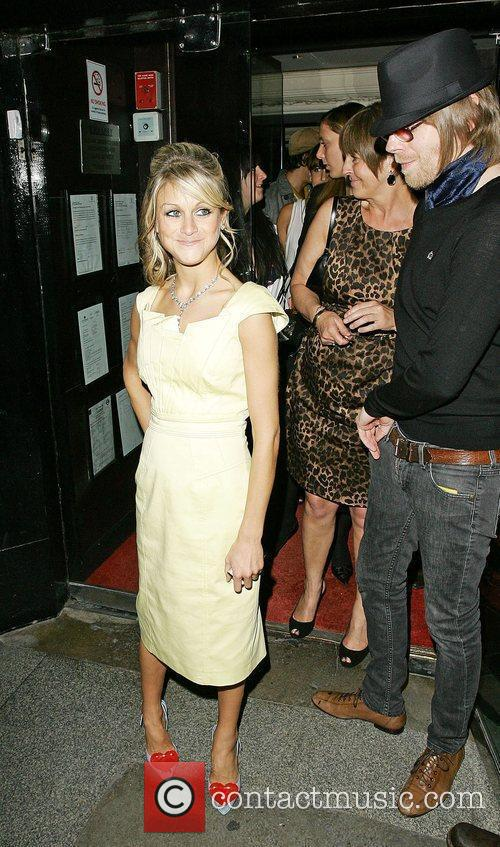 Nikki Grahame and Luke Crowther leaving the Embassy...