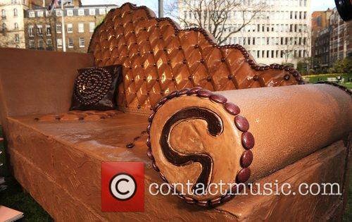 A 250kg edible chocolate sofa in Victoria Embankment...