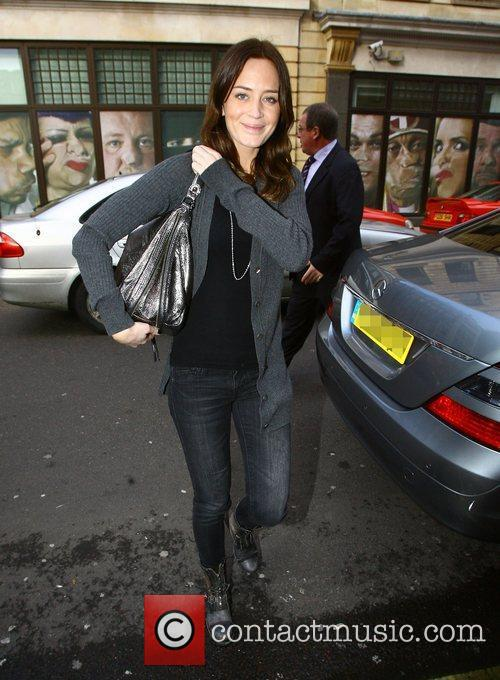 Emily Blunt arriving at the BBC Radio One...