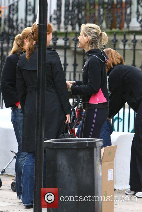 Newsreader Emily Maitlis drops her children off at...