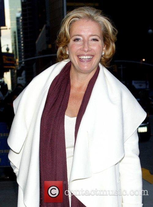 Emma Thompson and David Letterman 1
