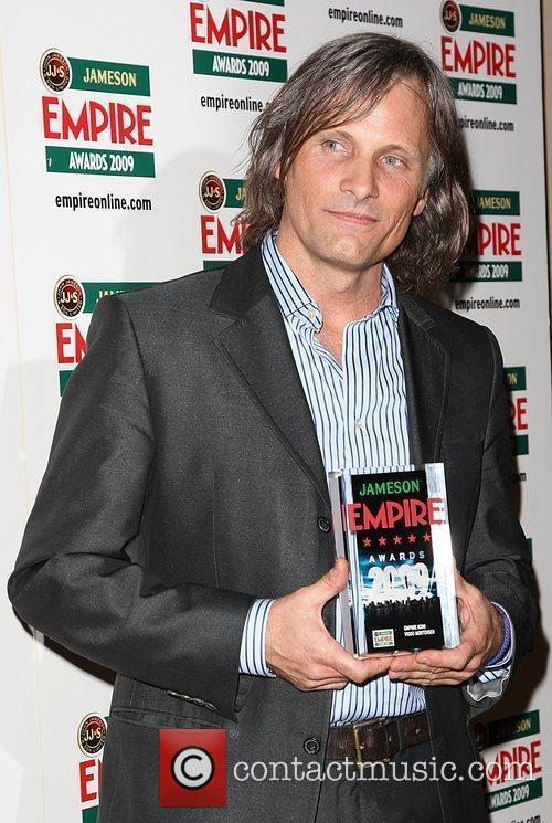 Viggo Mortensen winner of Empire Icon Jameson Empire...