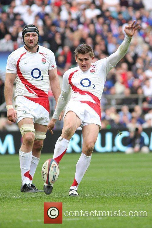 Toby Flood England v France Six Nations Rugby...