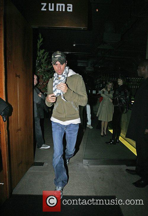 Leaving Zuma in Knightsbridge after eating with his...