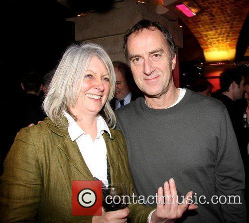 Angus Deayton and guest attend the press night...