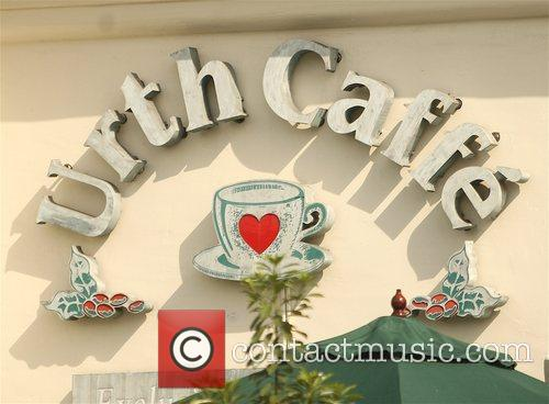 'Entourage' films at Urth Caffe Los Angeles, California