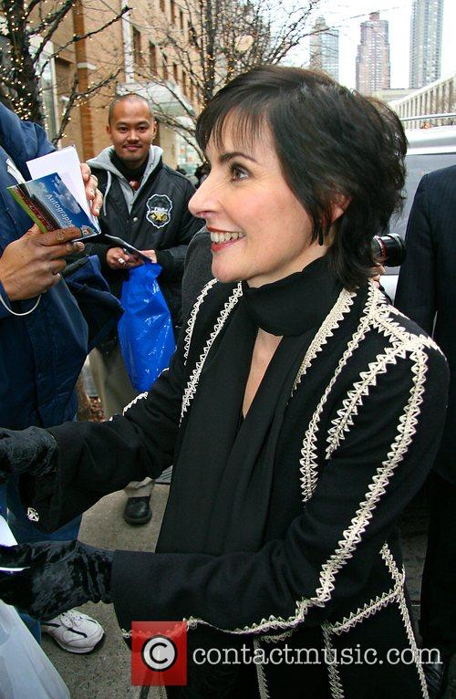 Enya leaving the ABC studios after appearing on...