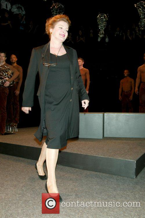 Kate Mulgrew at the curtain call for the...