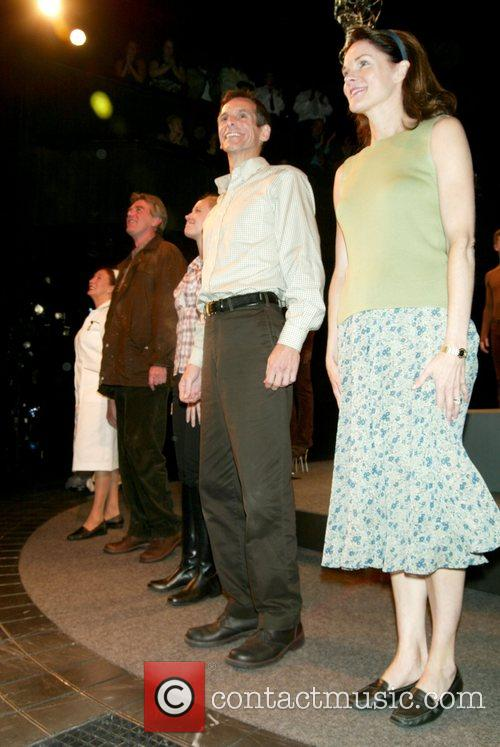 T. Ryder Smith, Carolyn McCormick at the curtain...