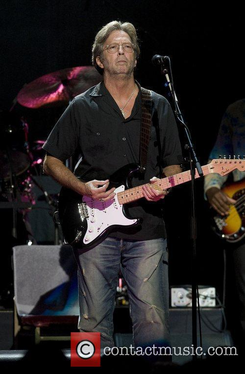 Eric Clapton performing live at the Royal Albert...