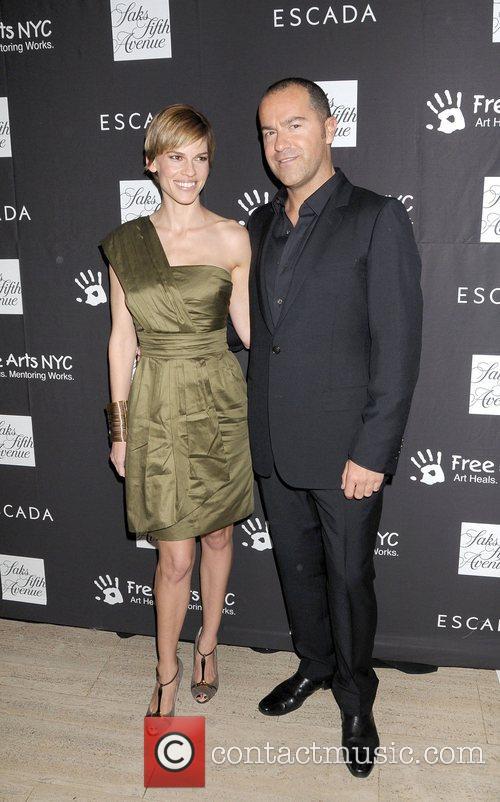 Hilary Swank and Damiano Biella Escada honours Damiano...