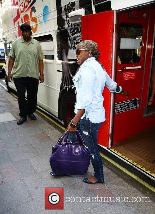 Singer Estelle arrives at the Mayfair hotel on...