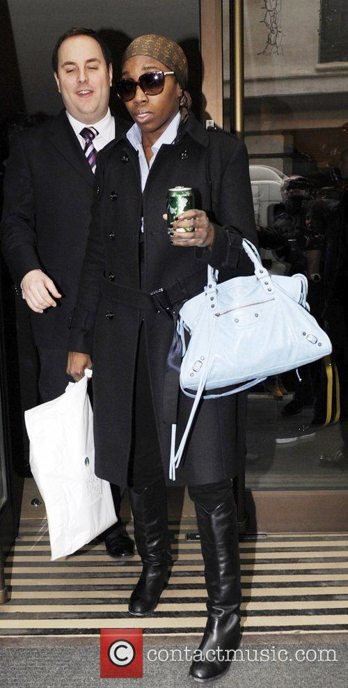 Estelle leaving her Mayfair hotel and heads to...