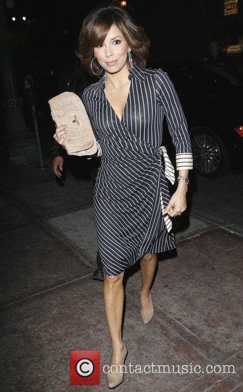 Eva Longoria arrives at Beso restaurant in Hollywood...