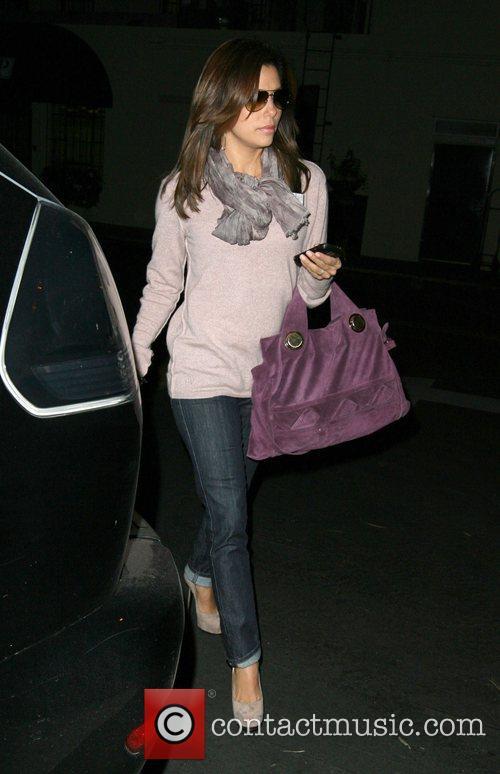 Eva Longoria  walks around Sunset Plaza after...