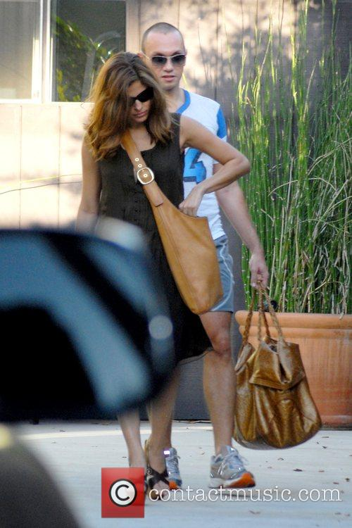 Eva Mendes leaving her gym in West Hollywood...