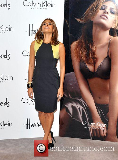 Eva Mendes Exclusive Appearance at Harrods to Celebrate...