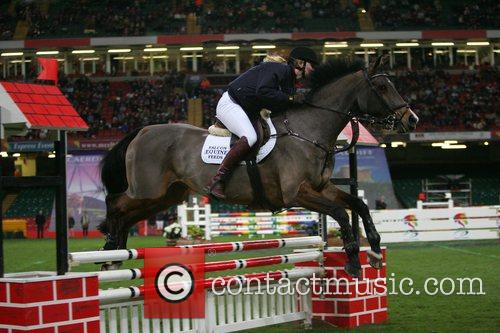 Jodie Kidd  competing in 'Express Eventing International...
