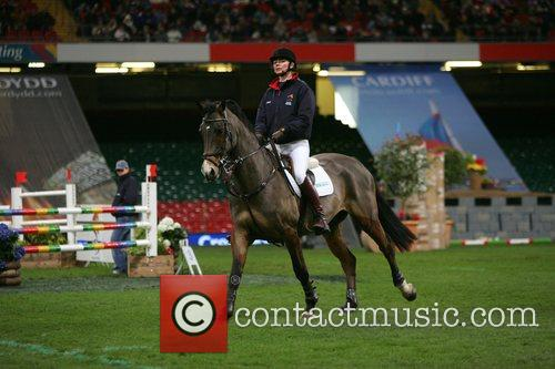 Competing in 'Express Eventing International Cup' held at...