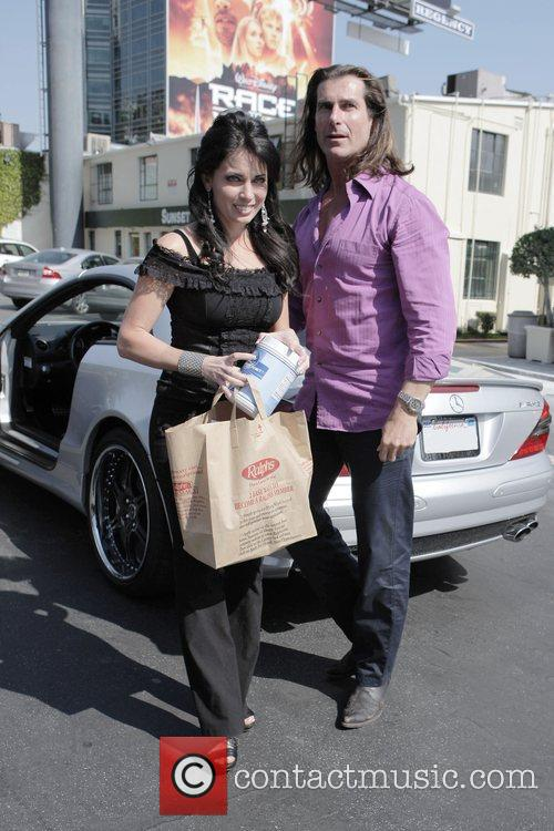 Fabio and His Female Friend Get Into His Parked Car At Sunset Plaza After Doing Some Shopping 5