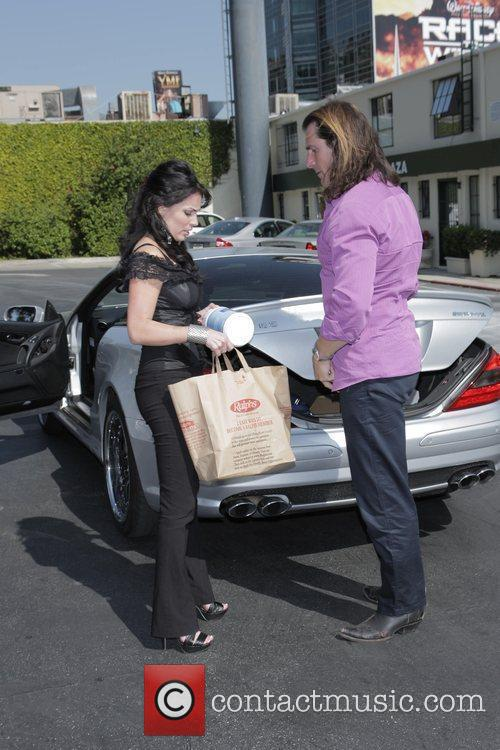 Fabio and His Female Friend Get Into His Parked Car At Sunset Plaza After Doing Some Shopping 6