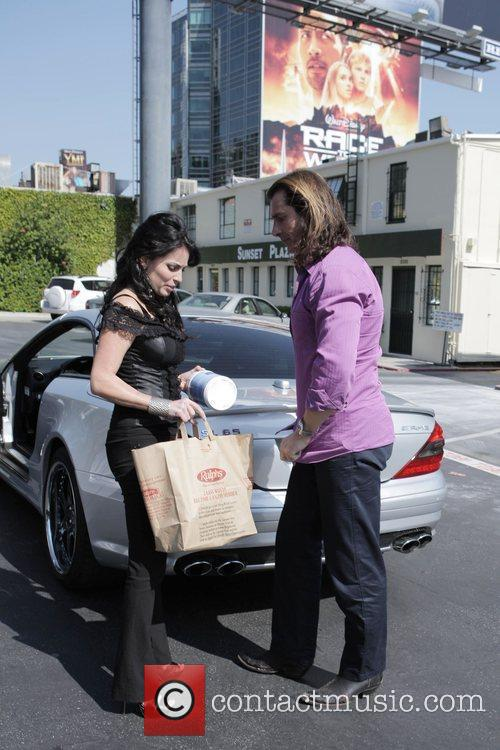 Fabio and His Female Friend Get Into His Parked Car At Sunset Plaza After Doing Some Shopping 7