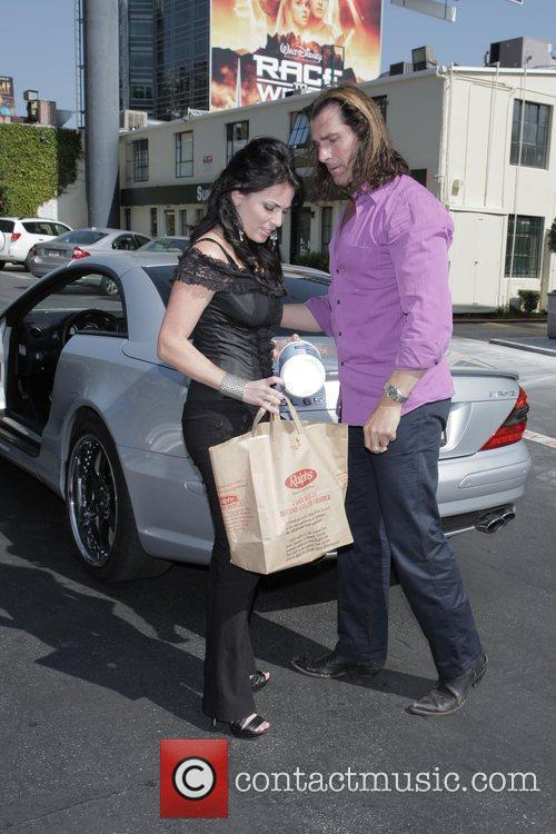 Fabio and His Female Friend Get Into His Parked Car At Sunset Plaza After Doing Some Shopping 4
