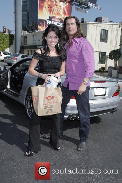Fabio and His Female Friend Get Into His Parked Car At Sunset Plaza After Doing Some Shopping 8
